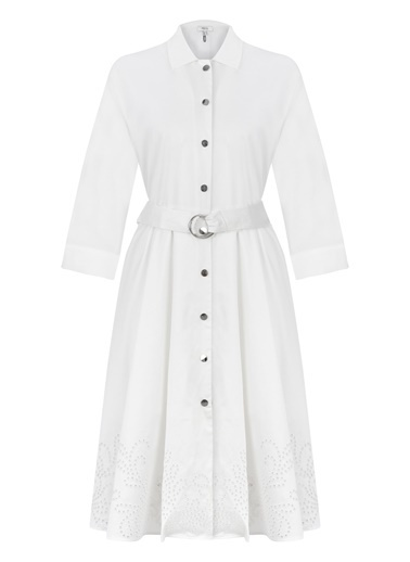 Ipekyol Gömlek Elbise Beyaz